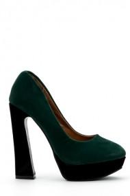 Pantofi cu toc 33441-95477 Verde