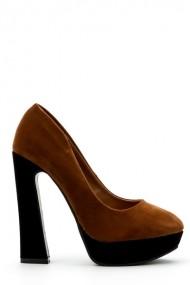 Pantofi cu toc 33441-95480 Maro