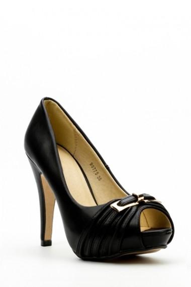 Pantofi cu toc 34532-98009 kaki