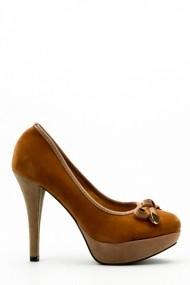Pantofi cu toc 34642-98236 Maro
