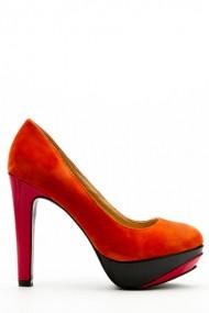 Pantofi cu toc 35508-100133 Portocaliu