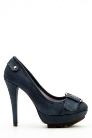Pantofi cu toc 35876-100943 albastru