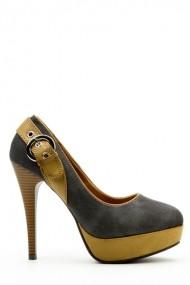 Pantofi cu toc 35877-100946 gri