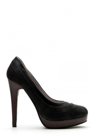 Pantofi cu toc 36034-101417 negru