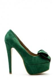 Pantofi cu toc 36377-102165 Verde