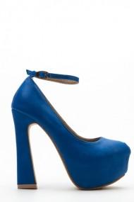 Pantofi cu toc 36960-103749 albastru