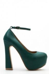 Pantofi cu toc 36960-103750 Verde