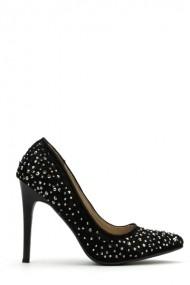 Pantofi cu toc 37978-106487 Negru
