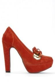 Pantofi cu toc 39087-109360 Portocaliu