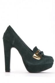 Pantofi cu toc 39087-109366 Verde