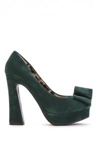 Pantofi cu toc 40499-112615 verde