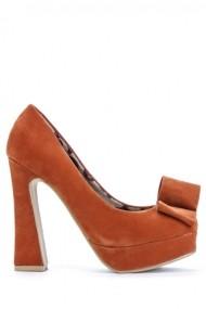 Pantofi cu toc 40499-112616 portocaliu
