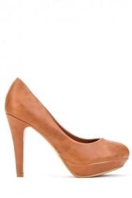 Pantofi cu toc 41424-114512 Maro