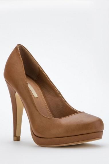 Pantofi cu toc 41855-115431 Maro - els