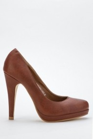 Pantofi cu toc 41855-115431 Maro