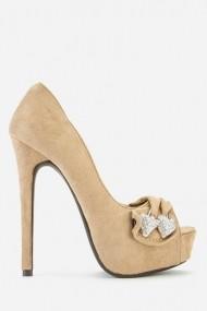 Pantofi cu toc 43191-118163 Bej