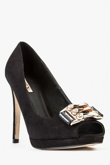 Pantofi cu toc 43393-118581 negru