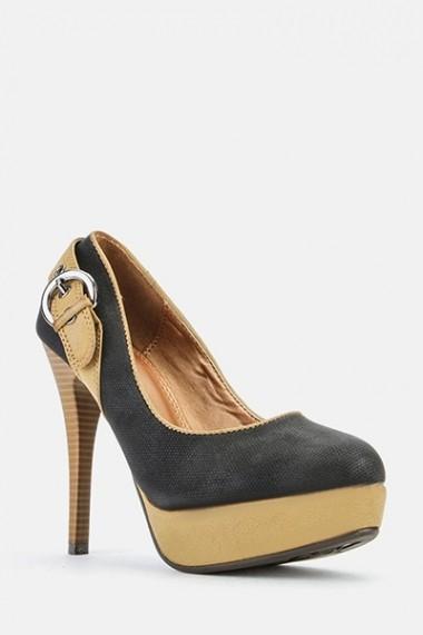 Pantofi cu toc 43629-119107 negru