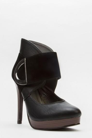 Pantofi cu toc 43668-119215 maro