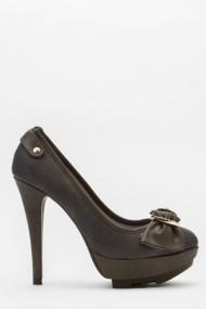 Pantofi cu toc 43707-119304 Gri