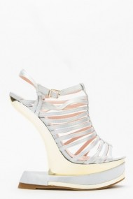 Sandale cu toc 43831-119609 Argintiu