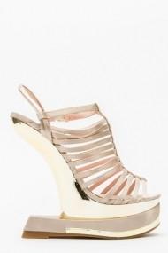 Sandale cu toc 43831-119610 Maro