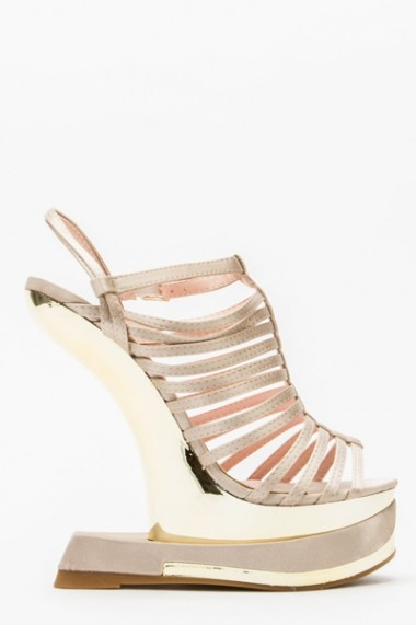 Sandale cu toc 43831-119612 Bej