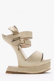 Sandale cu toc 43832-119615 Bej