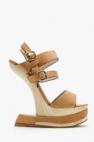 Sandale cu toc 43832-119616 Maro