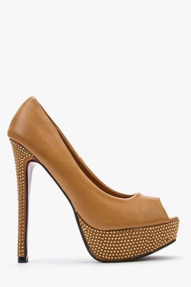 Pantofi cu toc 43887-119723 maro