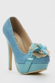 Pantofi cu toc 44007-119957 Albastru