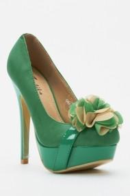 Pantofi cu toc 44007-119959 Verde
