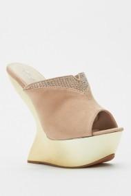 Sandale cu toc 44009-119965 Bej