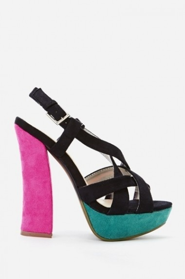 Sandale cu toc 44292-120550 Fucsia