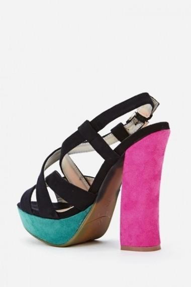 Sandale cu toc 44292-120551 Verde