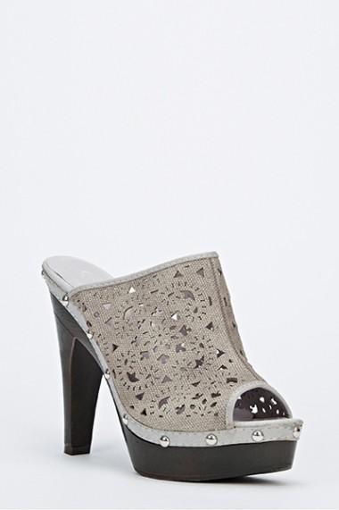 Sandale cu toc 45439-123147 gri