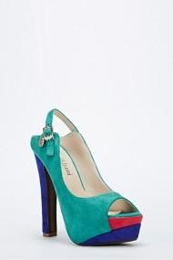 Pantofi cu toc 45870-124172 Verde