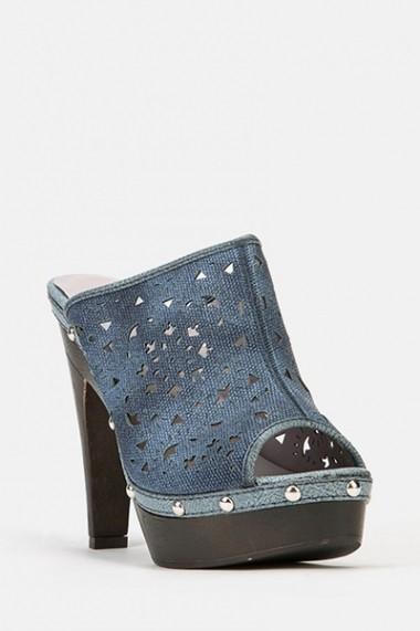 Sandale cu toc 45921-124284 albastru