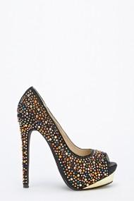 Pantofi cu toc 46091-124584 Negru