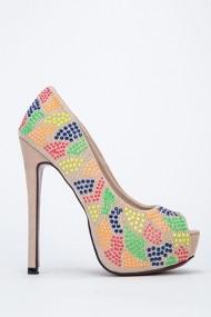 Pantofi cu toc 46429-125263 Bej