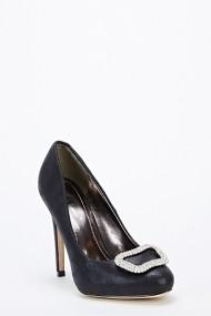 Pantofi cu toc 46813-126185 Negru