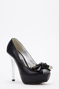 Pantofi cu toc 47349-127577 Negru