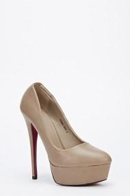 Pantofi cu toc 47408-130372 kaki