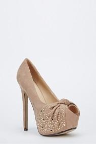 Pantofi cu toc 47962-128919 Kaki