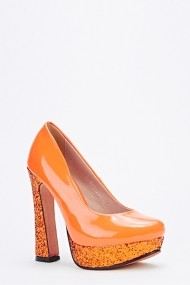 Pantofi cu toc 49220-132086 Portocaliu