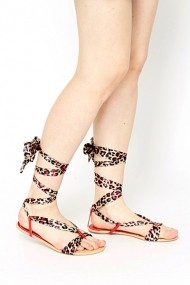 Sandale plate 49322-132335 Rosu
