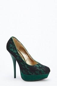 Pantofi cu toc 49785-133297 Verde