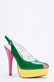 Pantofi cu toc 50201-134147 Verde