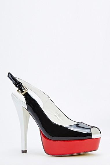 Pantofi cu toc 50201-134149 Alb