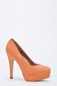 Pantofi cu toc 51932-137109 portocaliu